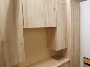 Sneak peek of top box cupboards in the new showroom.